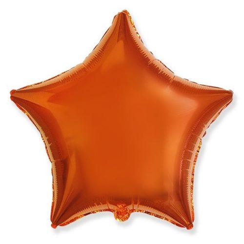 Шар 46 см Звезда Оранжевый Металлик