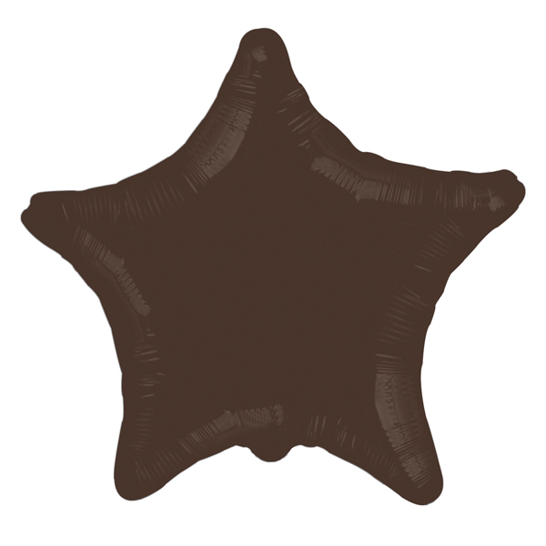 Шар 46 см Звезда Шоколад