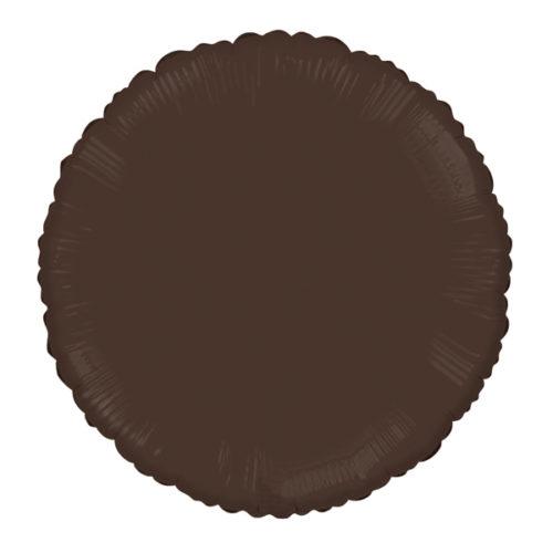 Шар 46 см Круг Шоколад