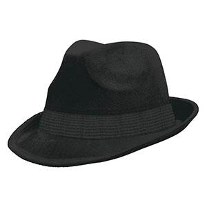 Шляпа федора велюр Черная