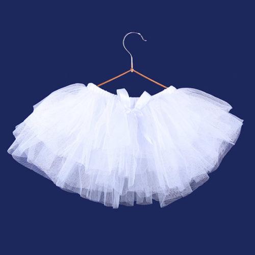 Юбка-пачка для малышей 25 см белая