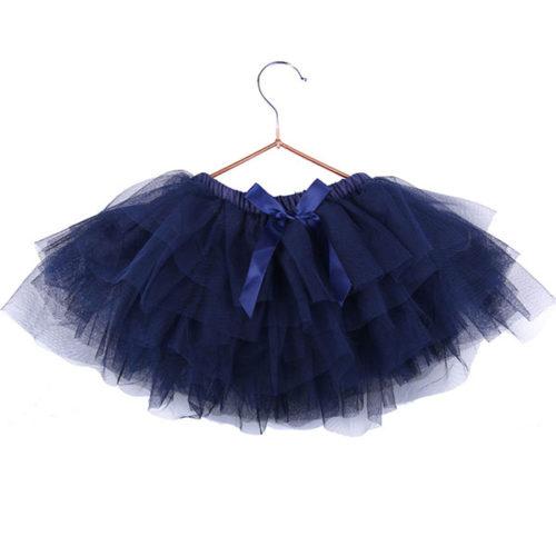 Юбка-пачка для малышей 25 см темно-синяя