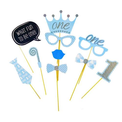 Набор аксессуаров для фотосессии С Днем Рождения малыш 10 предметов