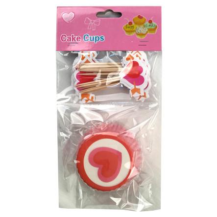 Набор для выпекания кексов Сердца на 24 штуки