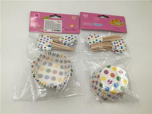 Набор для выпекания кексов Цветной горох на 24 штуки