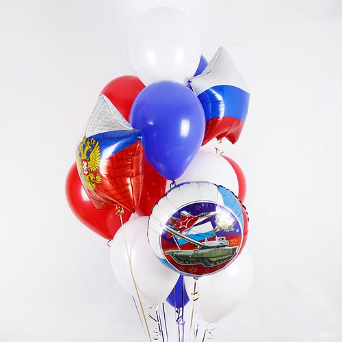 Связка Триколор Микс из воздушных шаров