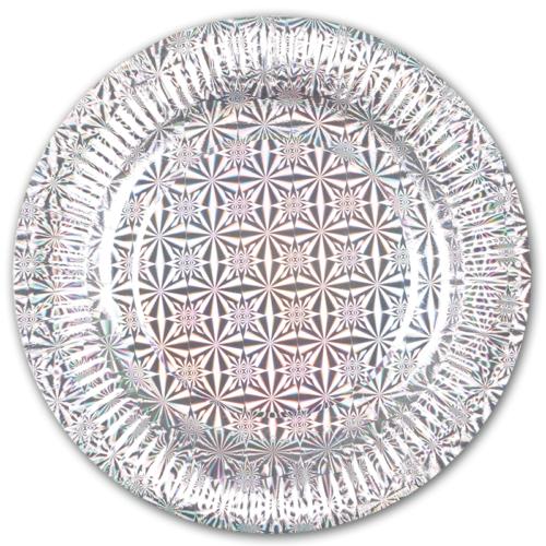 Тарелки 17 см Голография Серебро 6 шт