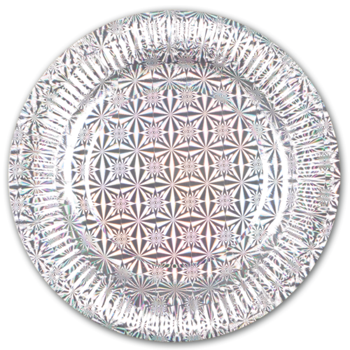 Тарелки 23 см Голография Серебро 6 шт