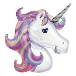 Шар 83 см Фигура Единорог Фиолетовый голова