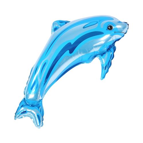 Шар 84 см Фигура Дельфинчик Синий
