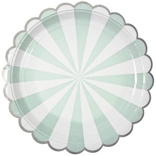 Тарелки 17 см Узор с серебряной каймой Тиффани