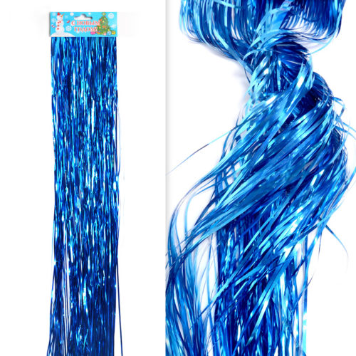 Гирлянда Дождик Синий 4-х слойные 0,5 м