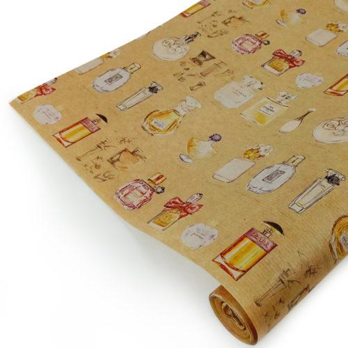 Упаковочная бумага Крафт 40гр 0,72 х 10 м Парфюм