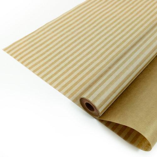Упаковочная бумага Крафт 40гр 0,72 х 10 м Полосы белые