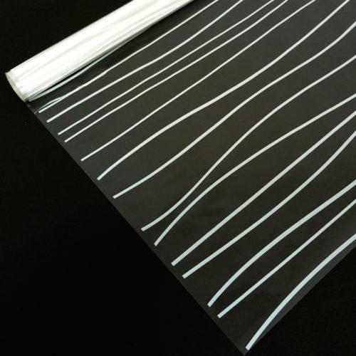 Упаковочная пленка 40мкм 0,72 м Полосы белые 1 метр