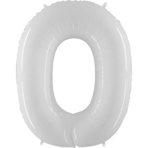 Шар 102 см Цифра 0 Белый