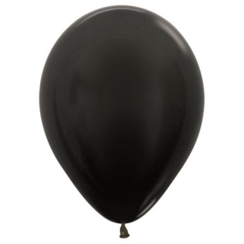 Шар 30 см металлик Черный 580