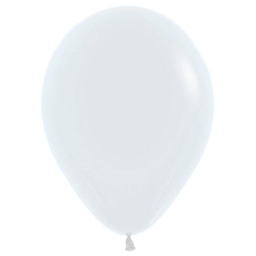 Шар 30 см пастель Белый 005