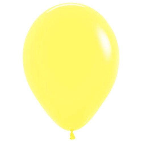 Шар 30 см пастель Светло Желтый 120