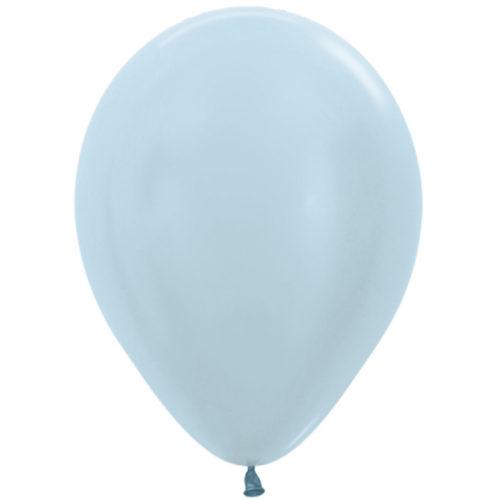 Шар 30 см перламутр Голубой 440
