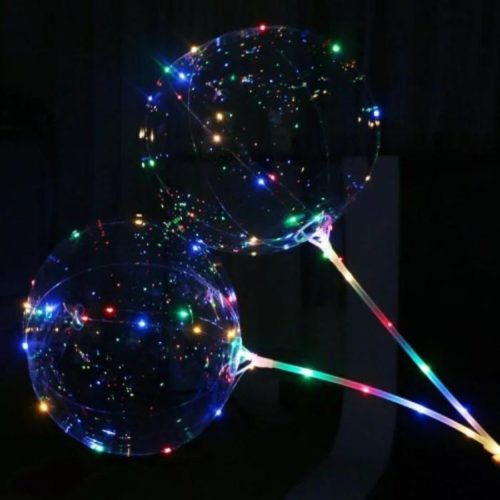Шар 38 см 3D Сфера в комплекте со светящейся нитью и палкой 2 штуки