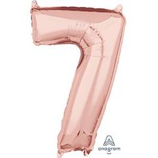 Шар 66 см Цифра 7 Розовое Золото