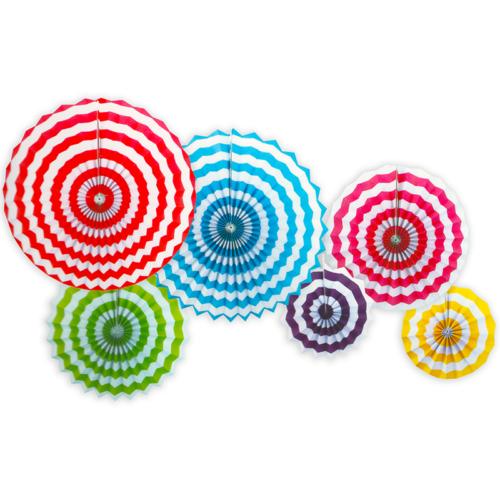 Набор дисков Разноцветный полосы 6 шт