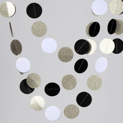 Подвеска Круги Черный Белый Серебро 220 см