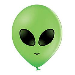 Шар 30 см Инопланетянин Зеленый Пастель