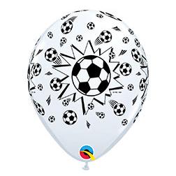 Шар 30 см Мяч футбольный Белый Пастель