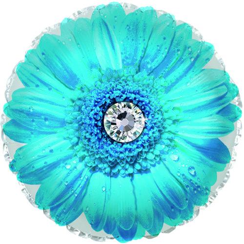 Шар 46 см Круг Гербера Голубой