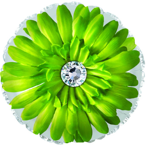 Шар 46 см Круг Гербера Зеленый