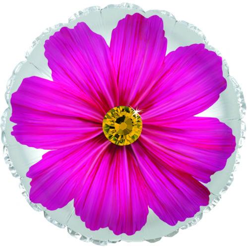 Шар 46 см Круг Гербера Розовый