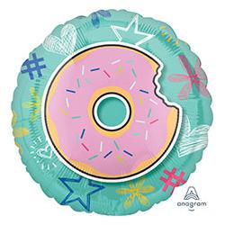Шар 46 см Круг Пончик надкусанный
