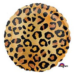 Шар 46 см Круг Узор леопардовый