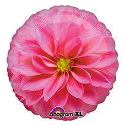 Шар 46 см Круг Цветок Астра розовая