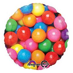 Шар 46 см Круг Шарики жевательные разноцветные