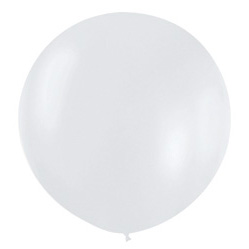 Шар 90 см Белый 405 перламутр
