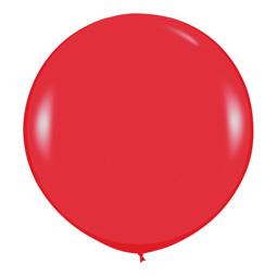 Шар 90 см Красный 015 пастель