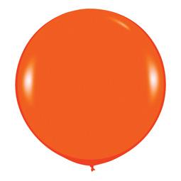Шар 90 см Оранжевый 061 пастель
