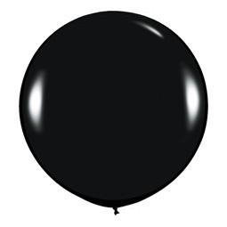 Шар 90 см Черный 080 пастель