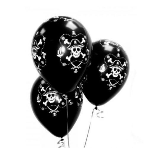 Связка из 3 шаров Череп Пирата