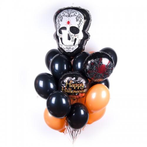 Связка шаров на Хеллоуин с Прекрасным Черепом