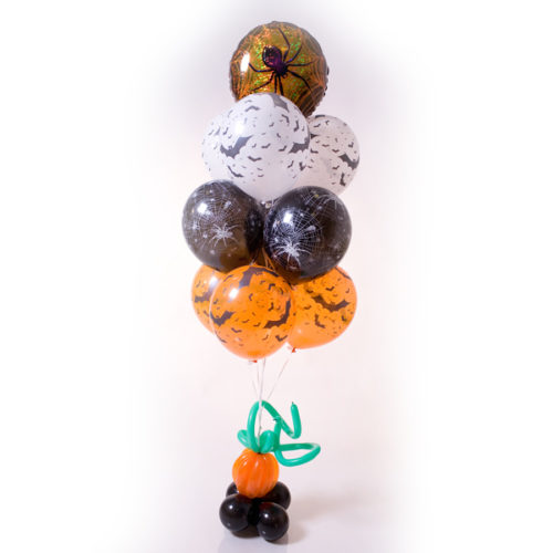 Фонтан из шаров с тыквой