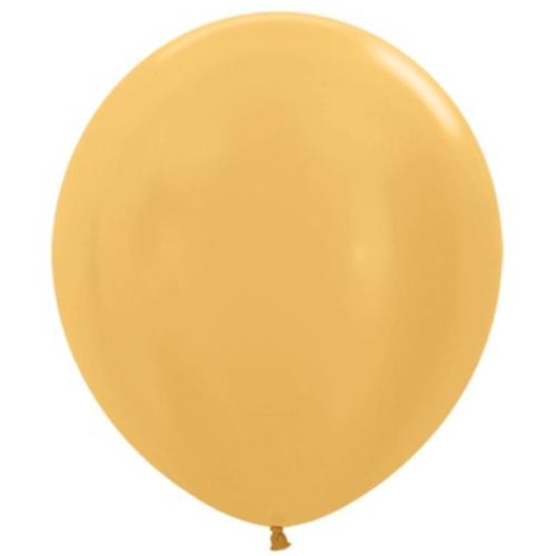 Шар 46 см Золото яркое Металлик