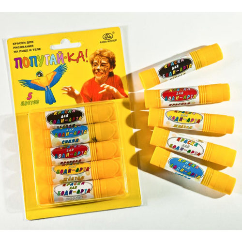 Аквагрим Попугай-ка карандаши 5 цветов