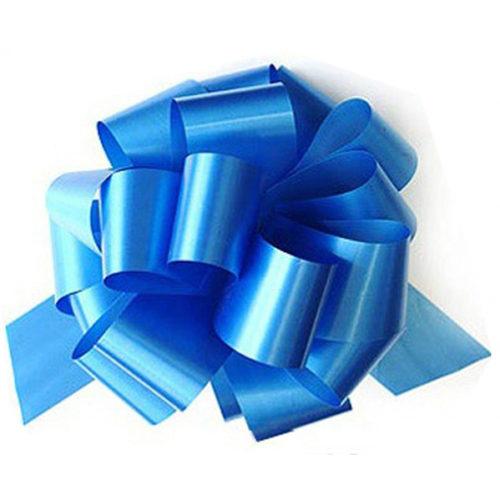 Бант Шар Металлик Голубой 8 см 1 штука