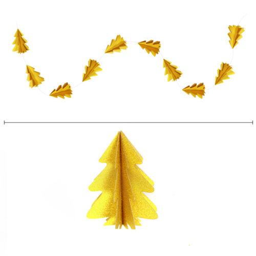 Гирлянда вертикальная Елки 2,5 м 12,5-9 см золото блеск
