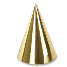 Колпак фольгированный золотой 6 штук