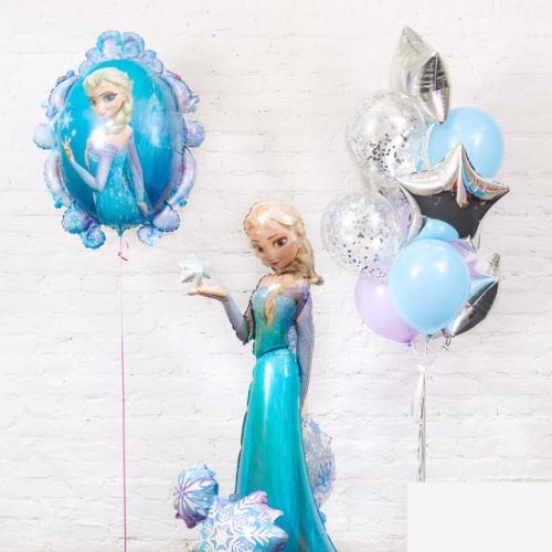 Комплект шаров Снежная королева Frozen